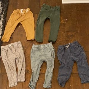 Lot of 5 baby boy kids Zara pants 2-3 and 3-4